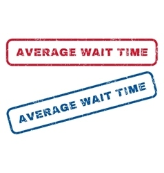 Average Wait Time Rubber Stamps vector