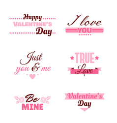 Badges collection valentines day vector