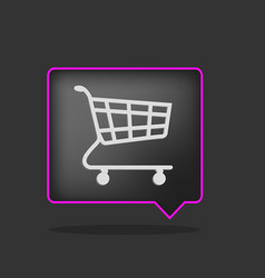 black shopping cart vector image