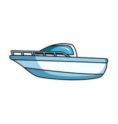 Blue metal boatpolice boata means of vector