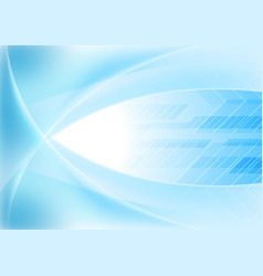 bright blue abstract wavy tech background vector image
