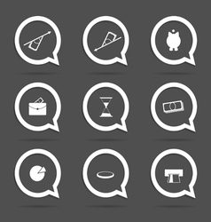 business icon in speech bubble vector image