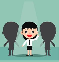 Business recruitment hiring concept vector