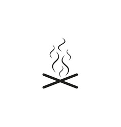 camp fireplace icon vector image
