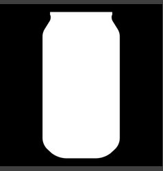 can the white color icon vector image