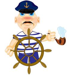 Captain for steering wheel vector