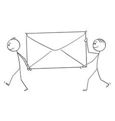 Cartoon two men or businessmen walking and vector