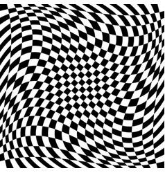Checkered pattern with spiral twirl swirl vector