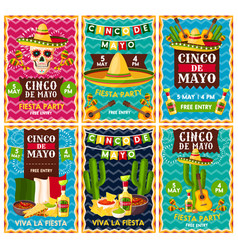 Cinco de mayo mexican fiesta party banner design vector