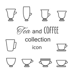 Coffee and Tea cup vector image