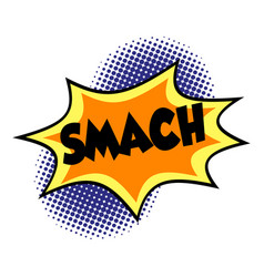 Comic lettering smach on white background vector