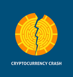 Crash cryptocurrency concept vector