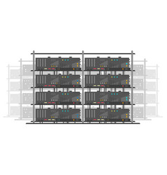 data center isolated vector image
