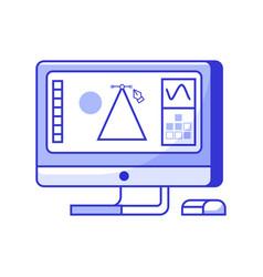 digital designer monitor icon vector image