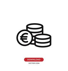 euro coins icon vector image