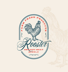 farm fresh poultry abstract sign symbol or vector image