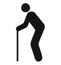 figure stick icon black vector image