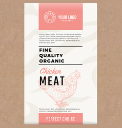 fine quality organic chicken abstract meat vector image