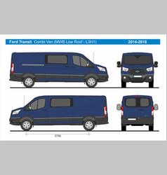 Ford transit combi delivery van mwb l3h1 2014-2018 vector