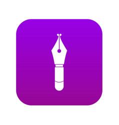Fountain pen nib icon digital purple vector