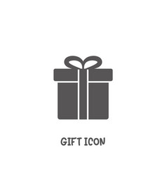 gift icon simple flat style vector image