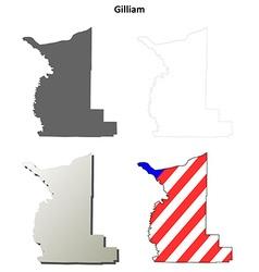 Gilliam Map Icon Set vector image
