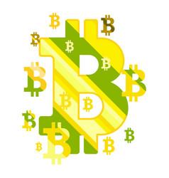 golden bitcoin coin vector image