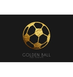 Golden soccer ball golden football football logo vector
