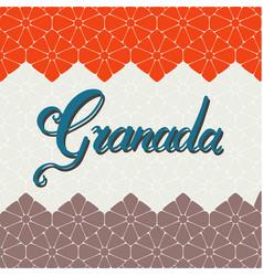 Granada hand lettering vector