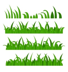 green grass constructor on white vector image