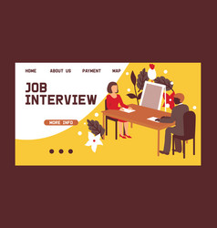 Hr interview talking with a job applicant vector