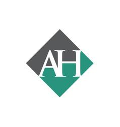 Initial ah rhombus logo design vector
