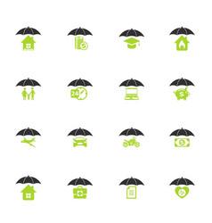 Insurance icon set vector