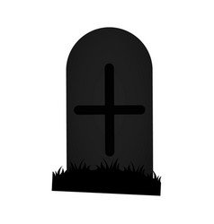 Isolated tombstone icon vector