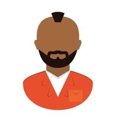 Jail prisoner with dark skin icon image vector
