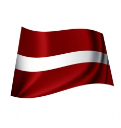 Latvia flag vector image