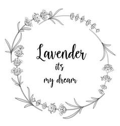 Lavender bouquet vector