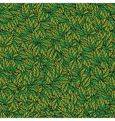 Leaves texture seamless pattern vector image