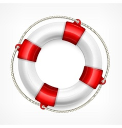 Life buoy on white vector
