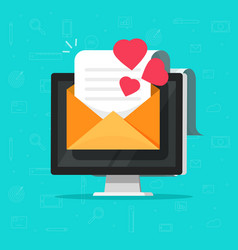 love email message on computer vector image
