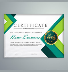 Modern geometric shape certificate design template vector