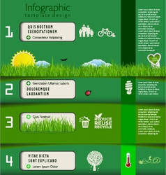 Modern green ecology template design vector image