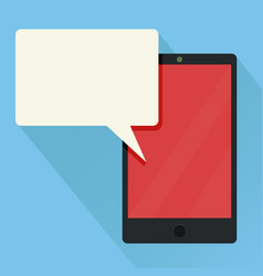 new message receive modern smart phone vector image