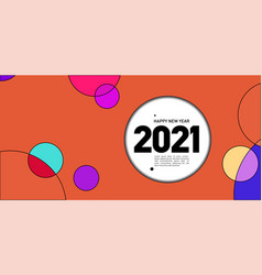 New year 2021 colorful circle and dot geometric vector