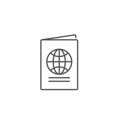Passport related line icon vector