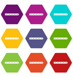 percentage arrow infographic icon set color vector image