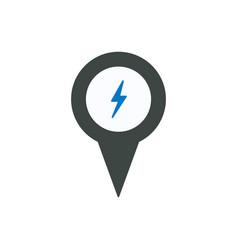 pin flash icon vector image
