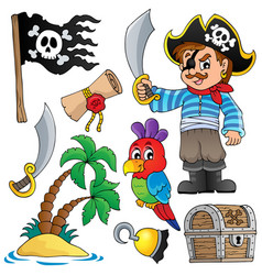 pirate thematics collection 1 vector image