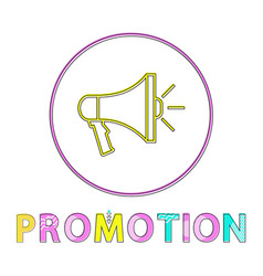 promotion icon in linear outline style vector image