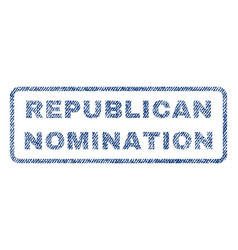 Republican nomination textile stamp vector